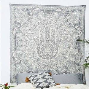 Urban Outfitters Sketched Hamsa Hand Tapestry